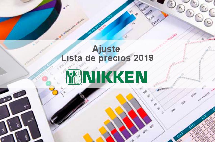 Ajuste de precios NIKKEN 2019